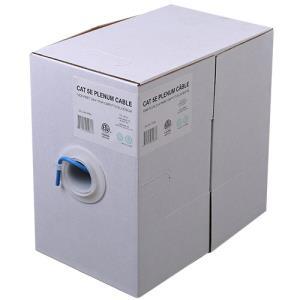 Wbox 1000ft. Cat5E 24/4 Plenum CMP/FT6, Blue