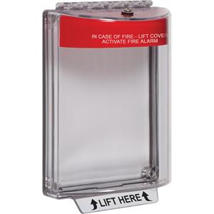 STI Universal Stopper without Horn, Flush, Fire Label STI-13010FR