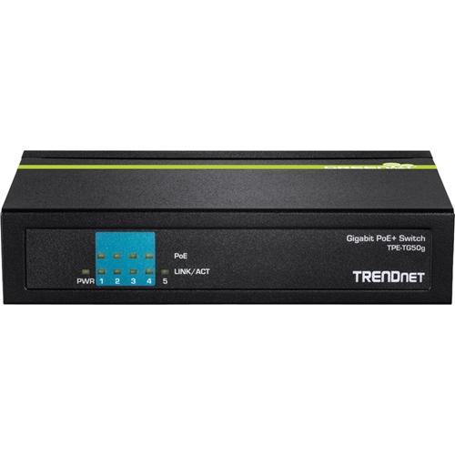 TRENDnet 5-port Gigabit PoE+ Switch