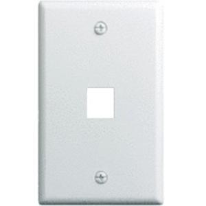 Legrand-On-Q 1-Gang, 1-Port Wall Plate, 10-Pk, White