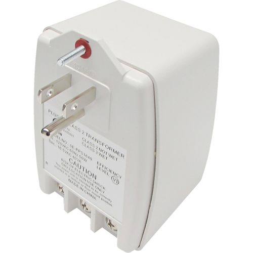 W Box 16.5VAC, 40VA (40 Watts) Primary: 120VAC, 60Hz, 50W Auto-Resetting PTC Fuse