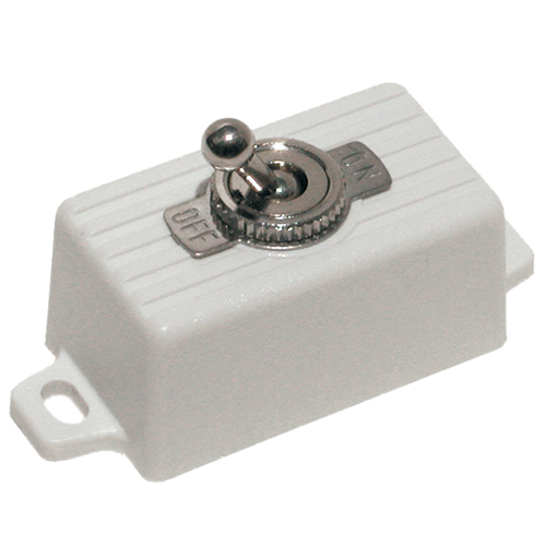 Toggle Switch Spst In Case-Wht